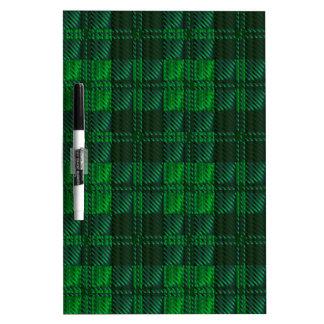 Dark Green Tartan Dry Erase Board
