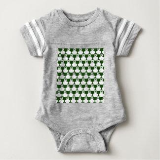 Dark Green Victorian Lace Baby Bodysuit