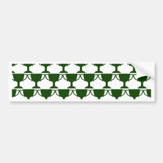 Dark Green Victorian Lace Bumper Sticker
