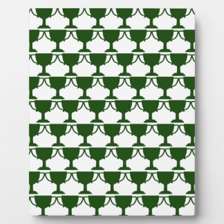 Dark Green Victorian Lace Plaque