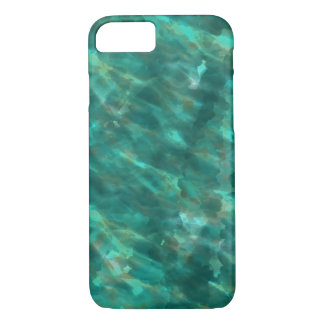 Dark Green Water Color Art iphone Case