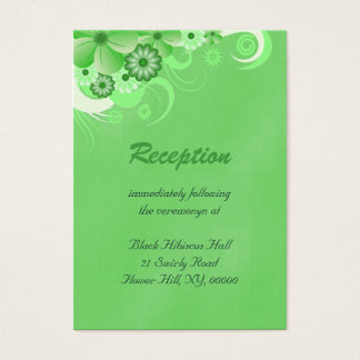 Dark Green Wedding Reception Enclosure Cards