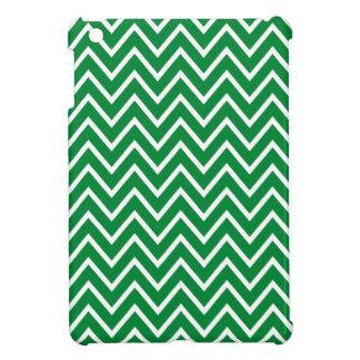 Dark green zigzag chevron pattern chic trendy iPad mini case