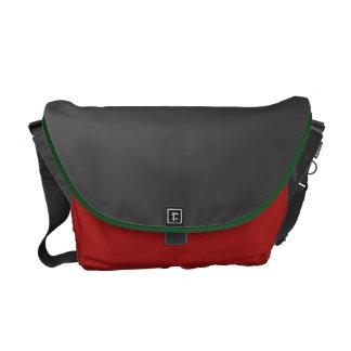 Dark Grey and Barn Red Messenger  Bag Commuter Bag