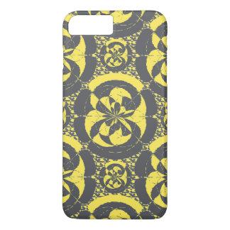 Dark grey and yellow iPhone 7 plus case