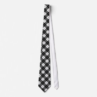 Dark Grey, Black, White & Grey Argyle Print Tie