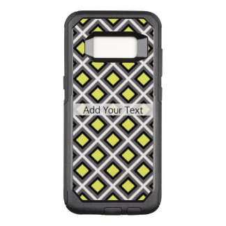 Dark Grey, Black, Yellow Ikat Diamonds by STaylor OtterBox Commuter Samsung Galaxy S8 Case