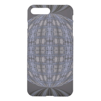 Dark Grey Blue Globe Abstract iPhone 7 Plus Case