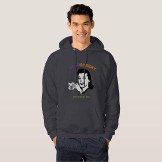Dark grey Dead Cheeky hoodie. Hoodie