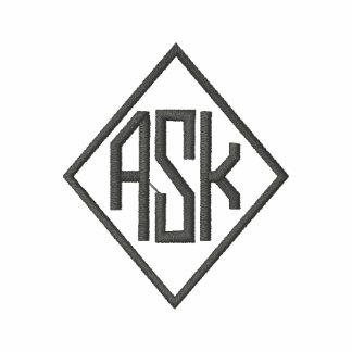 Dark Grey Embroidered A S K Shirts