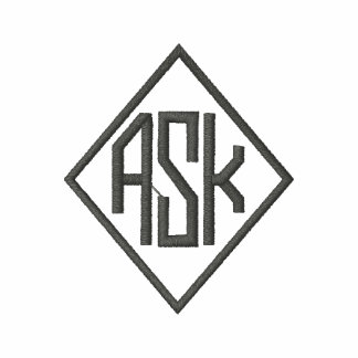 Dark Grey Embroidered A.S.K. Shirts