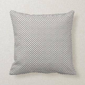 Dark Grey Fish Scale Pattern Pillow