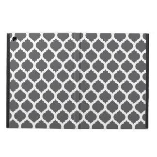 Dark Grey Moroccan Pattern iPad Air Covers