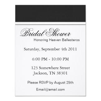 Dark Grey & White Bridal Shower Invitations