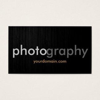 Dark Grey Wood Photographer Artist Business Card