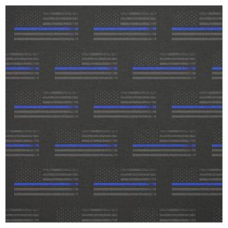 Dark Grungy Police Style American Flag Fabric