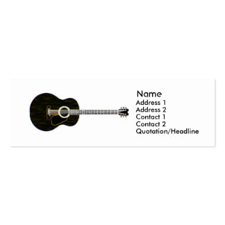 Dark Guitar - Skinny Double-Sided Mini Business Cards (Pack Of 20)