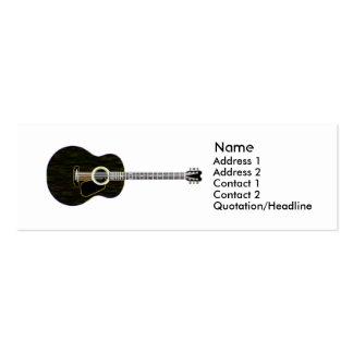 Dark Guitar - Skinny Business Cards