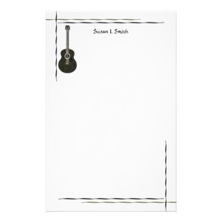 Dark Guitar Stationery