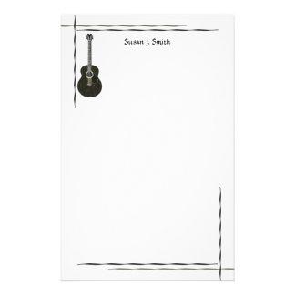 Dark Guitar Customized Stationery