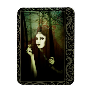 Dark Gypsy Witch Forest Butterfly Photo Magnet