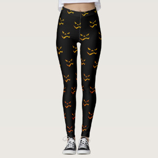 Dark Halloween Grimace Pattern Leggings