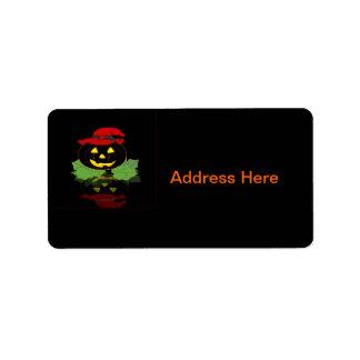 Dark Halloween Pumpkin Address Label