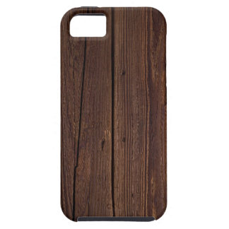 Dark hardwood imitation iPhone 5 case