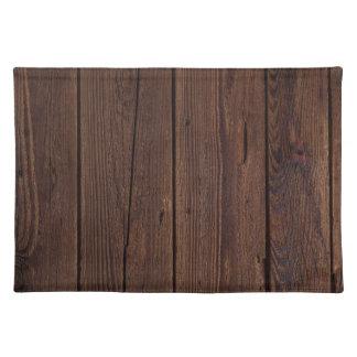 Dark hardwood imitation placemat