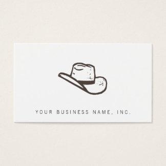 Dark Hat Letterpress Style Business Card
