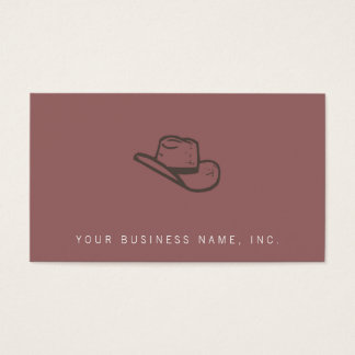 Dark Hat Letterpress Style Business Card