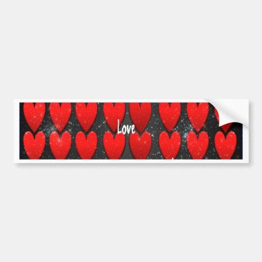 Dark Hearts - Galaxy Love Bumper Sticker