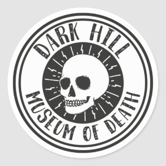 Dark Hill Museum of Death Skull Sticker