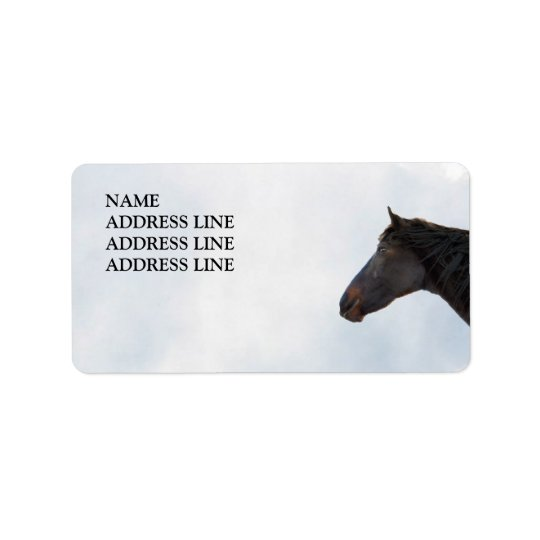 Dark Horse and Sky - Western Return Address Address Label