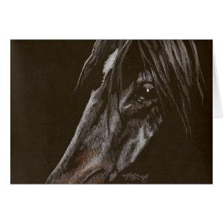 Dark Horse on Black Card