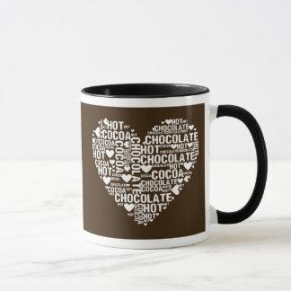 Dark Hot Chocolate Cocoa Love Mug