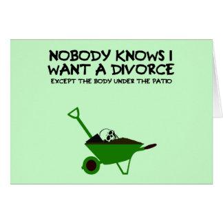 Dark humour marriage cards