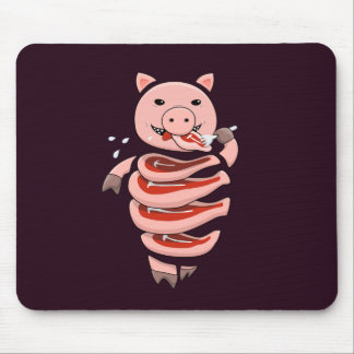 Dark Hungry Self Eating Cut In Steaks Pig Mouse Pad