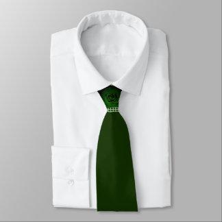 Dark Hunter Green Rose Tie by DelynnAddams