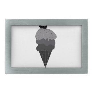 Dark Ice Cream Rectangular Belt Buckle