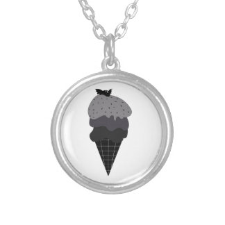 Dark Ice Cream Silver Plated Necklace