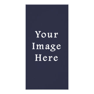 Dark Ink Blue Purple Color Trend Blank Template Customised Photo Card