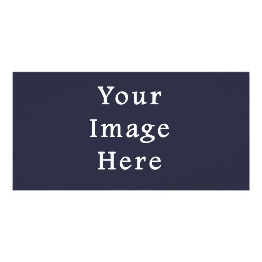 Dark Ink Blue Purple Color Trend Blank Template Picture Card