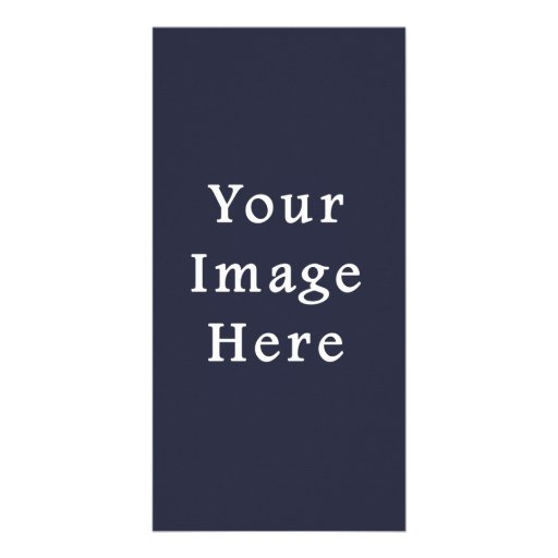 Dark Ink Blue Purple Color Trend Blank Template Personalized Photo Card