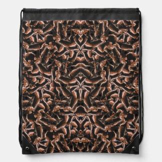 Dark Intricate Modern Tribal Drawstring Bag