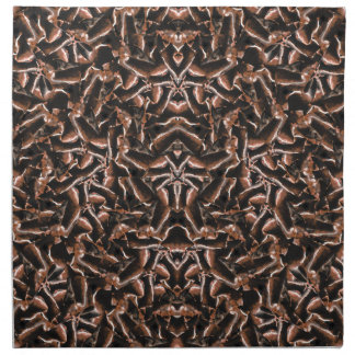 Dark Intricate Modern Tribal Napkin