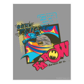 Dark Knight KA-POW Postcard