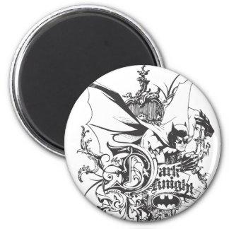 Dark Knight Logo Detailed 6 Cm Round Magnet