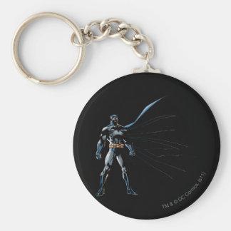 Dark Knight Night Basic Round Button Key Ring