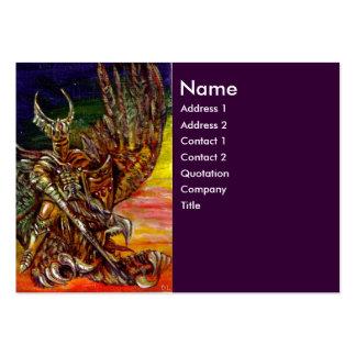 DARK KNIGHT Purple Business Card Templates